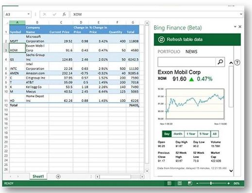 Bing-Finance-Office-app