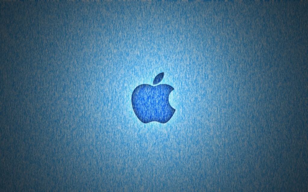 MAC os X lion sea blue wallpaper with apple logo