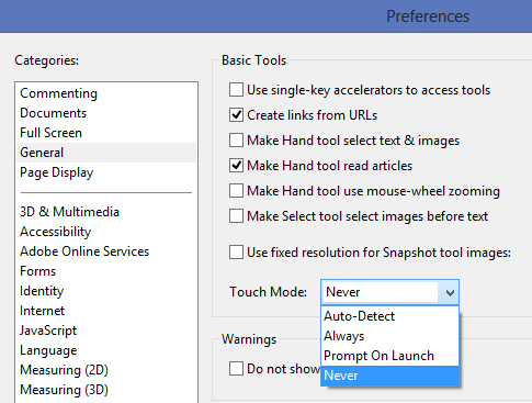 disable-touch-mode-adobe-acrobat