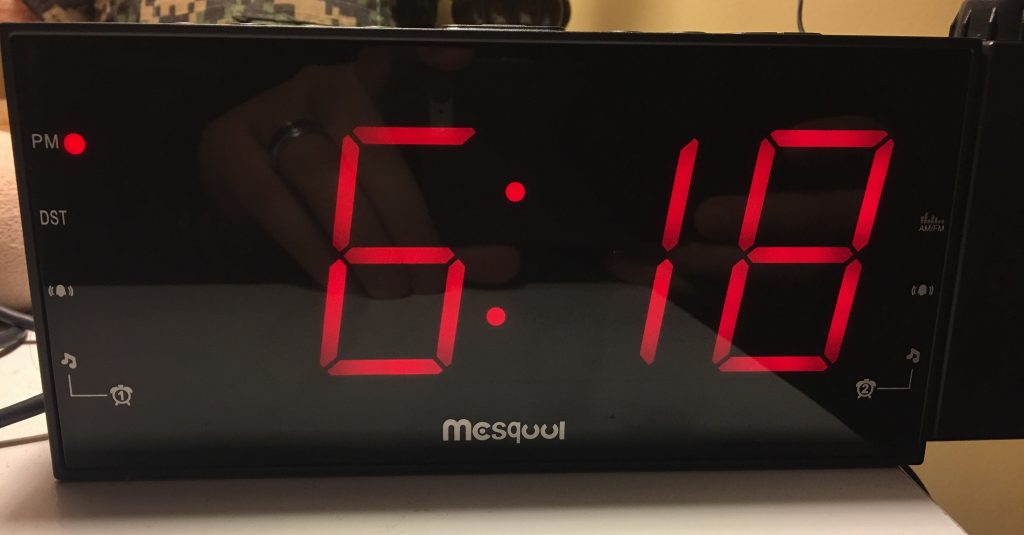 Alarm Clock With Digital Display On Ceiling Pranksenders