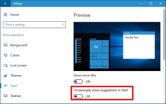 how to disable suggested apps in the start menu in windows