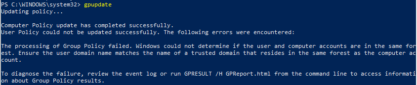 How To Fix Group Policy: Error Windows could not determine