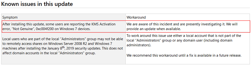 kms activation failed