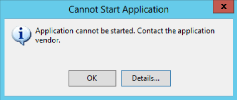 cannot start application