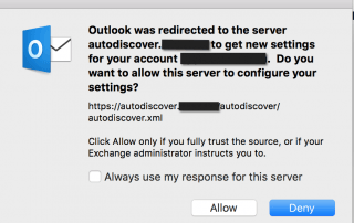 Outlook MacOS AutoDiscover